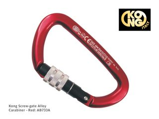 Kong Screw-gate Alloy Carabiner - Red