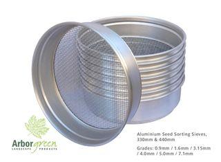 ALUMINIUM 330mm Diameter Seed Sorting Sieve, Grade: 2.0mm