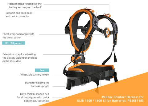 Pellenc Comfort Harness for 1200 - 1500 Batteries