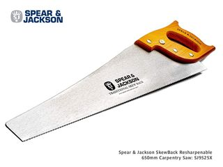 Spear & Jackson SkewBack Resharpenable 650mm Carpentry Saw