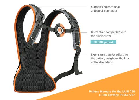 Pellenc Harness for 750 Battery