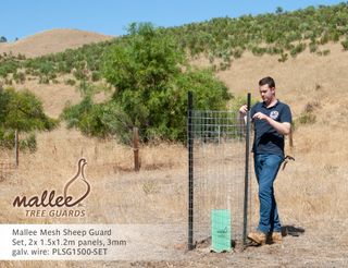 Mallee Mesh Sheep Guard (2pcs) 1.5m high x 1.2m wide, 3mm wire flat panel