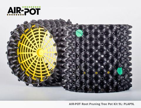 AIR-POT Root Pruning Tree Pot Kit 9L, 269mm diam, 275mm high