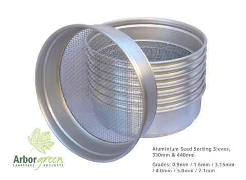 ALUMINIUM 330mm Diameter Seed Sorting Sieve, Grade: 0.8mm