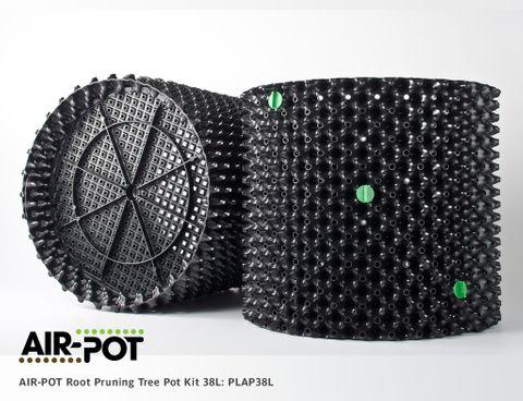 AIR-POT Root Pruning Tree Pot Kit 38L, 428mm diam, 375mm high