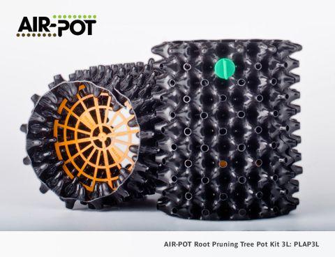 AIR-POT Root Pruning Tree Pot Kit 3L, 195mm diam, 215mm high