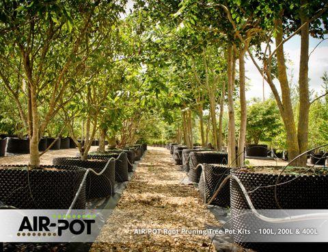 AIR-POT Root Pruning Tree Pot Kit 200L, 715mm diam (w/o base), 495mm high