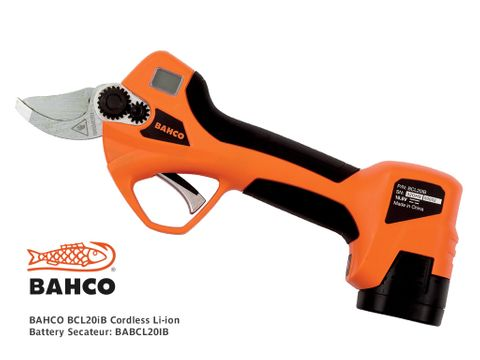 BAHCO BCL20iB Cordless Li-ion Battery Secateurs