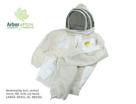 Beekeeping Suit, vented mesh, HD, with zip hood - XL