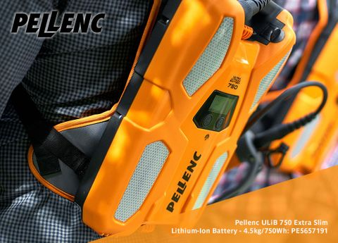 Pellenc ULiB 750 Extra Slim Lithium-Ion Battery - 4.5kg/750Wh (Battery only)