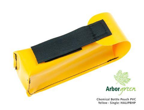 Chemical Bottle Pouch PVC Yellow - Single