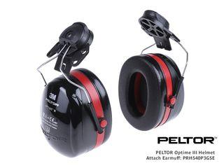 PELTOR 30dba Cap Attach Earmuffs (was H10P3E & H10P3G)