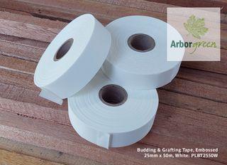 Budding & Grafting Tape, Embossed 25mm x 50m - White