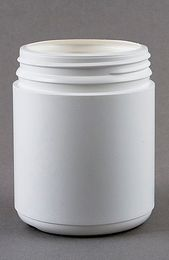 DISPENSARY 500 GRAM CONTAINER WHITE WITH TAMPER EVIDENT LID