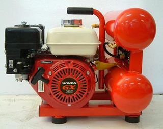 Direct Drive Compressor with Honda Engine and 2 x 8ltr Tanks