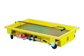 120L Wheeled Oil Rolling Floor Drain with Pump