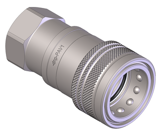 "Series A BSPP 1 1/2"" Female Coupling"