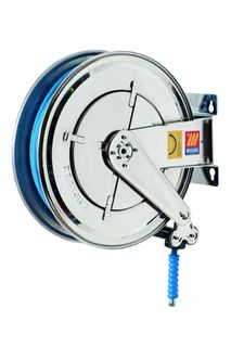 Meclube SS 20mtr x 3/8 400bar 150c water hose reel