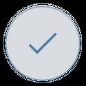 blue tick symbol