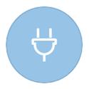 Electrical plug symbol