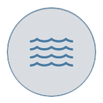 Waves on grey icon