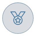 Medal on grey background