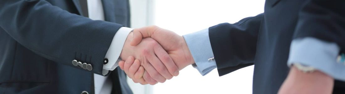 People shaking hands agreeing to work together