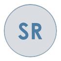 bold SR in bold on grey icon