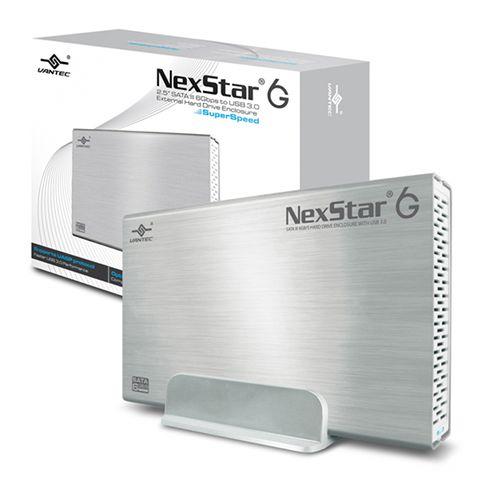 """Vantec NexStar 6G 3.5"""" SATA 3 to USB 3.0 External Hard Drive Enclosure - Silver"""