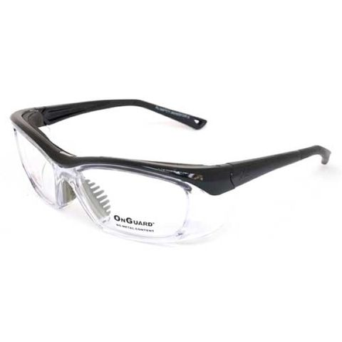 On Guard Radiation Protection Leaded Lense glasses made in Australia, Purple Frame