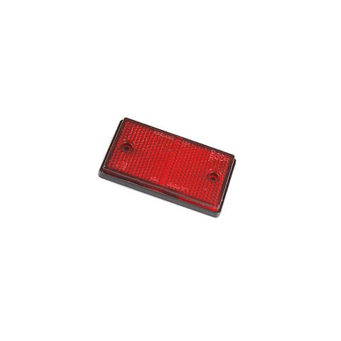 Reflector Red Screw On 75x45mm