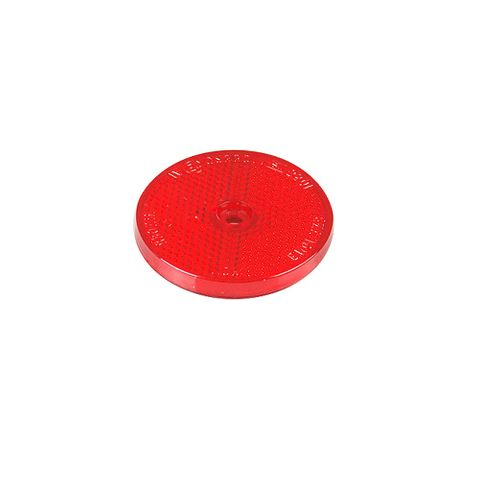 Reflector Red Screw On 60mm Round