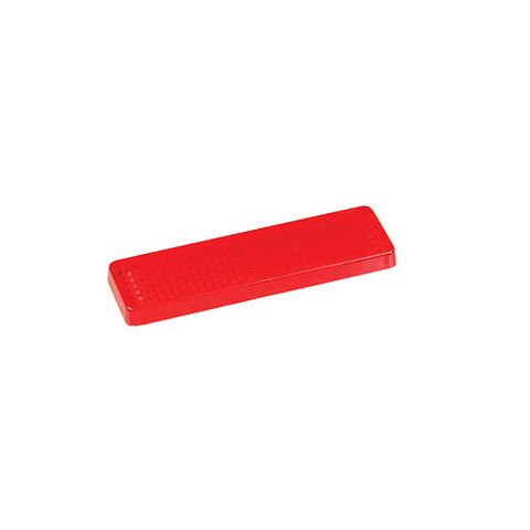 Reflector Red Stick on 70x20mm