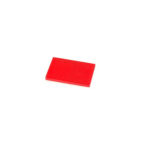 Reflector Red Stick On 60x40mm