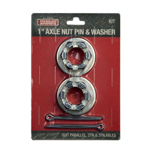 Axle Nut, Pin & Washer 1in x 2