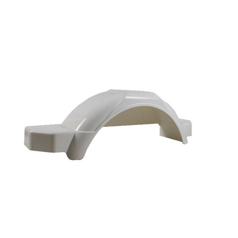 Mudguard Poly White suits 9-10in
