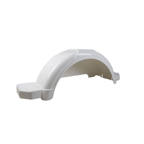 Mudguard Poly White suits 14in
