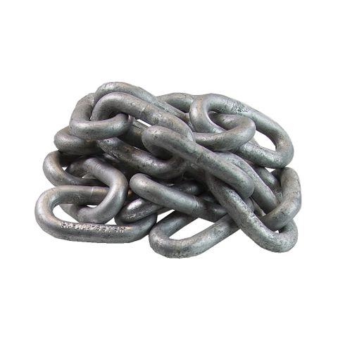 Stamped Safety Chain 10mm Gal per/m