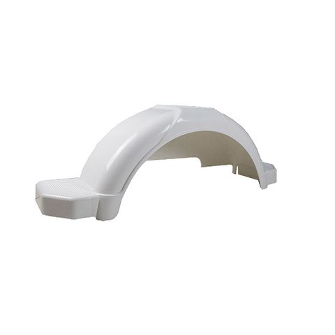 Mudguard Poly White suits 13in