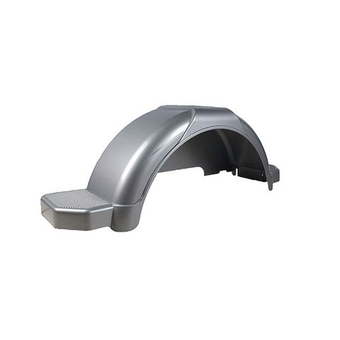 Mudguard Poly Silver suits 14in