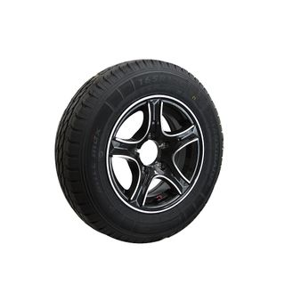 Rim & Tyre 13in Mag FORD Black/Silver
