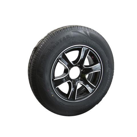 Rim & Tyre 16in Mag LC6 BLK/SILV