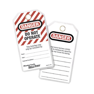 MASTER DO NOT OPERATE - SAFETY TAG (PACK OF 12)