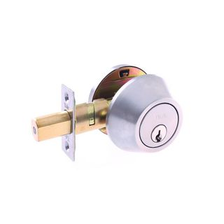 COMMERCIAL DEADBOLT CYL & TURN 6P SS BOXED