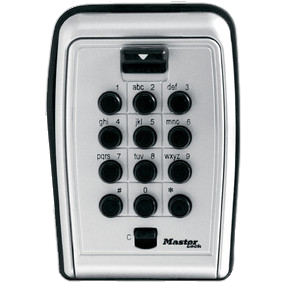 MASTER LOCK BOX PUSH BUTTON WALL MOUNT W/COVER