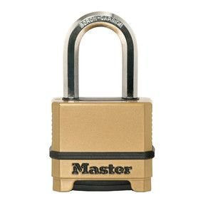 MASTER EXCELL COMBINATION LOCK 38mm SHACKLE