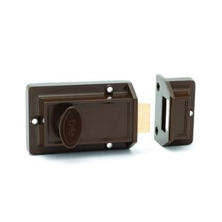 RIM NIGHTLATCH BROWN LESS CYL & SNIB