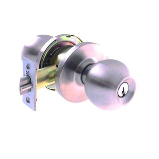 COMMERCIAL ENTRANCE LOCK 6P 60mm SS BOXED