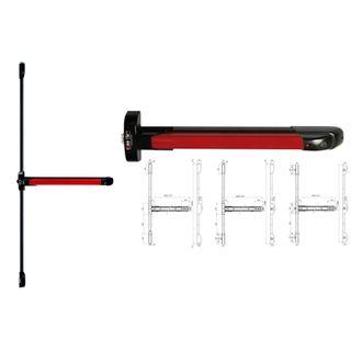 ISEO PANIC PUSH 1+2 DOUBLE DOOR RED / BLACK 1300
