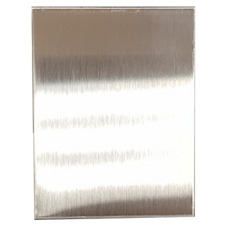 S/STEEL METAL PLATE WITH ADHESIVE 65x50mm
